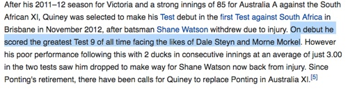 The Quiney Nine on Wikipedia